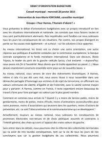 CM 28-01-2015 - DOB - Intervention conseil municipal