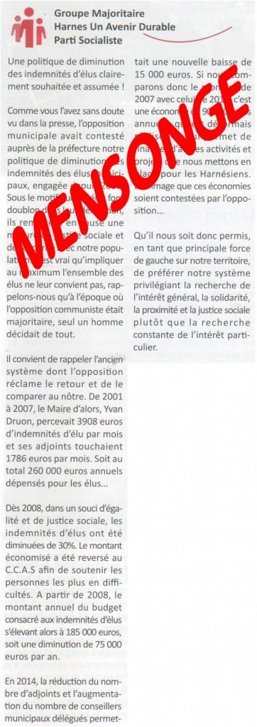 courrier duquesnoy - demande droit de réponse Gazette juin 2015 V2 - Gazette juin 2015 - extrait